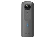 4K解像度の高画質360°動画撮影&空間音声記録が可能な「RICOH THETA V」