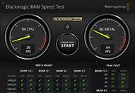 Blackmagic RAWをデコードしてCPU/GPU速度をテスト