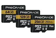最大転送速度250MB/秒のmicroSDXC UHS-IIカード